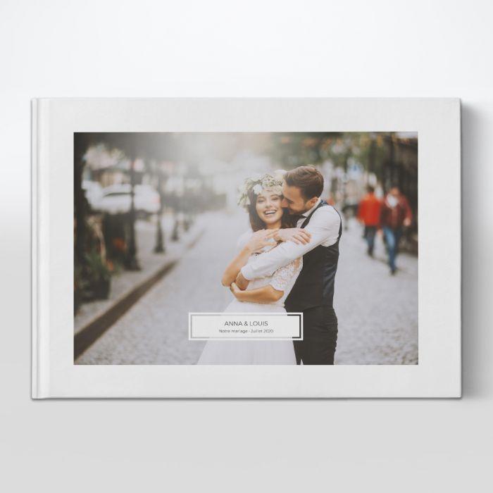 Visuel livre photo. Photographe de mariage